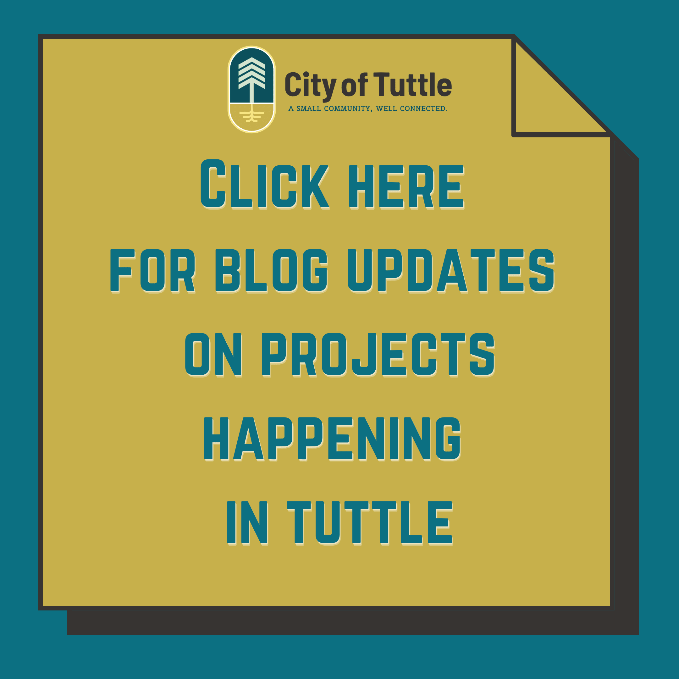Click here for blog updates on projects happening in tuttle